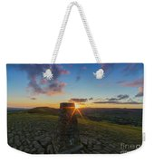 Rushup Edge From Mam Tor Summit Sunset Weekender Tote Bag