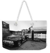 Russel Farms 1951 Ford F100 Black And White Weekender Tote Bag