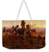 Russell Charles Marion In The Wake Of The Buffalo Hunters Weekender Tote Bag