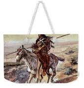 Russell Charles Marion Indian With Spear Weekender Tote Bag