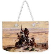 Russell Charles Marion Indians On Plains Weekender Tote Bag