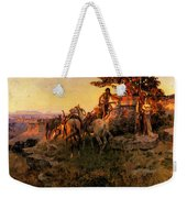Russell Charles Marion Watching For Wagons Weekender Tote Bag
