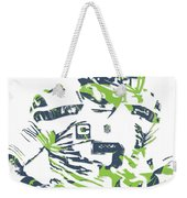 Russell Wilson Seattle Seahawks Pixel Art 10 Weekender Tote Bag