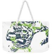 Russell Wilson Seattle Seahawks Pixel Art 12 Weekender Tote Bag