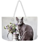 Russian Blue 02 Weekender Tote Bag