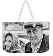 Russian Pensioners Looking At Camera Weekender Tote Bag