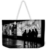 Russian Teens At Night Outside A Shopping Center Weekender Tote Bag