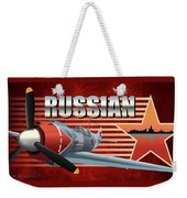 Russian War Bird Weekender Tote Bag