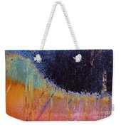 Rust Abstract With Curved Line Weekender Tote Bag