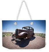 Rusted Old Car On Route 66 Weekender Tote Bag