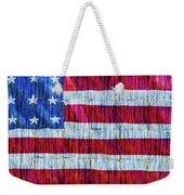 Rustic American Flag Weekender Tote Bag
