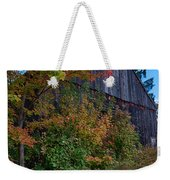 Rustic Barn Above The Fall Colors Weekender Tote Bag