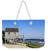 Rustic Boathouse On The Beach. Weekender Tote Bag