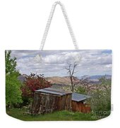 Rustic Cabins On A Hillside Weekender Tote Bag by Patricia Strand