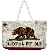 Rustic California State Flag Design Weekender Tote Bag