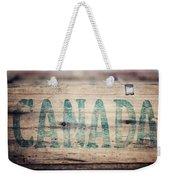 Rustic Canada Weekender Tote Bag