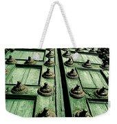 Rustic Church Door Weekender Tote Bag