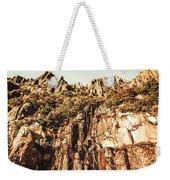 Rustic Cliff Spring Weekender Tote Bag