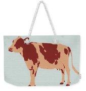 Rustic Cow Weekender Tote Bag