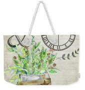 Rustic Farmhouse Our Happy Place Weekender Tote Bag