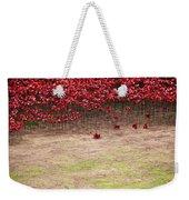 Rustic Poppy Garden Weekender Tote Bag