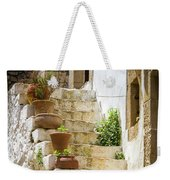 Rustic Steps In Crete Weekender Tote Bag