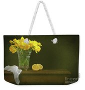 Rustic Still Life With Daffodils Weekender Tote Bag