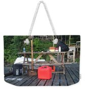 Rustic Summer Dock Weekender Tote Bag