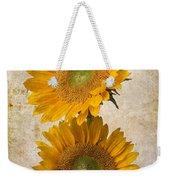 Rustic Sunflowers Weekender Tote Bag