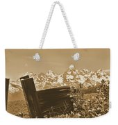 Rustic View Of Grand Teton Weekender Tote Bag