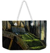 Rustic Water Wheel With Moss Weekender Tote Bag