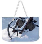 Rustic Wheel In The Snow#2 Weekender Tote Bag