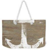 Rustic White Anchor- Art By Linda Woods Weekender Tote Bag