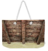 Rustic Wood Beams Weekender Tote Bag
