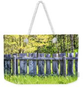 Rustic Wooden Fence At Old World Wisconsin Weekender Tote Bag