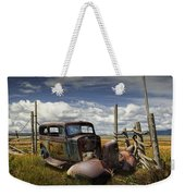 Rusty Auto Wreck Out West Weekender Tote Bag