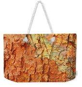 Rusty Bark Abstract Weekender Tote Bag