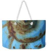 Rusty Blue Fire Hydrant Weekender Tote Bag