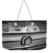 Rusty Buick Emblem Black And White Weekender Tote Bag