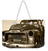 Rusty But Trusty Old Gmc Pickup Weekender Tote Bag by Gordon Dean II