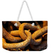 Rusty Chain Weekender Tote Bag
