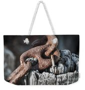 Rusty Iron Chain Railing Fragment Weekender Tote Bag