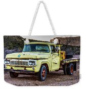Rusty Old Work Truck Weekender Tote Bag