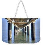 Rusty Pier  On The Ocean  From Below Weekender Tote Bag