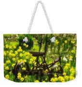 Rusty Plow In Daffodils  Weekender Tote Bag