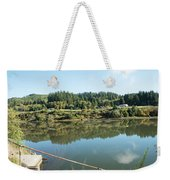 Rusty Railing And Reflection Weekender Tote Bag