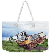 Rusty Retired Fishing Boat Weekender Tote Bag