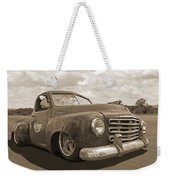 Rusty Studebaker In Sepia Weekender Tote Bag