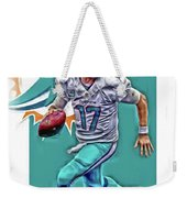 Ryan Tannehill Miami Dolphins Oil Art Weekender Tote Bag
