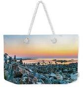 Rye, New Hampshire Sunrise Cairns Weekender Tote Bag